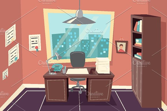 Business Working Office Room Graphics Creative Market