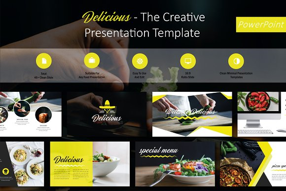 Delicious Food Powerpoint Template Presentation Templates