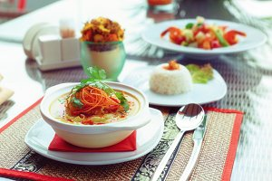 Bowl of spicy curry dish