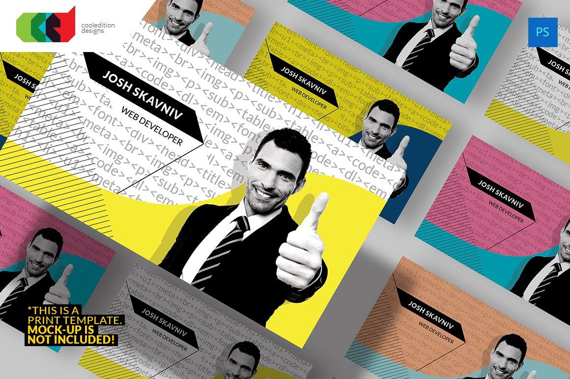 Web Developer Business Card ~ Business Card Templates ~ Creative ...