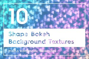 10 Shape Bokeh Background Textures