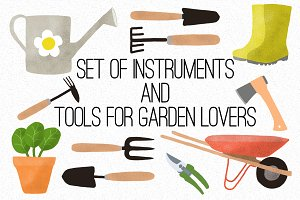 Set of gardening instruments