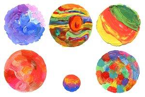 Abstract circle acrylic paint