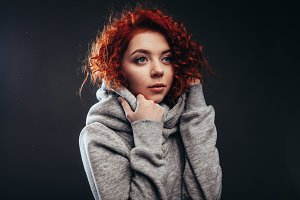 redhead curly girl