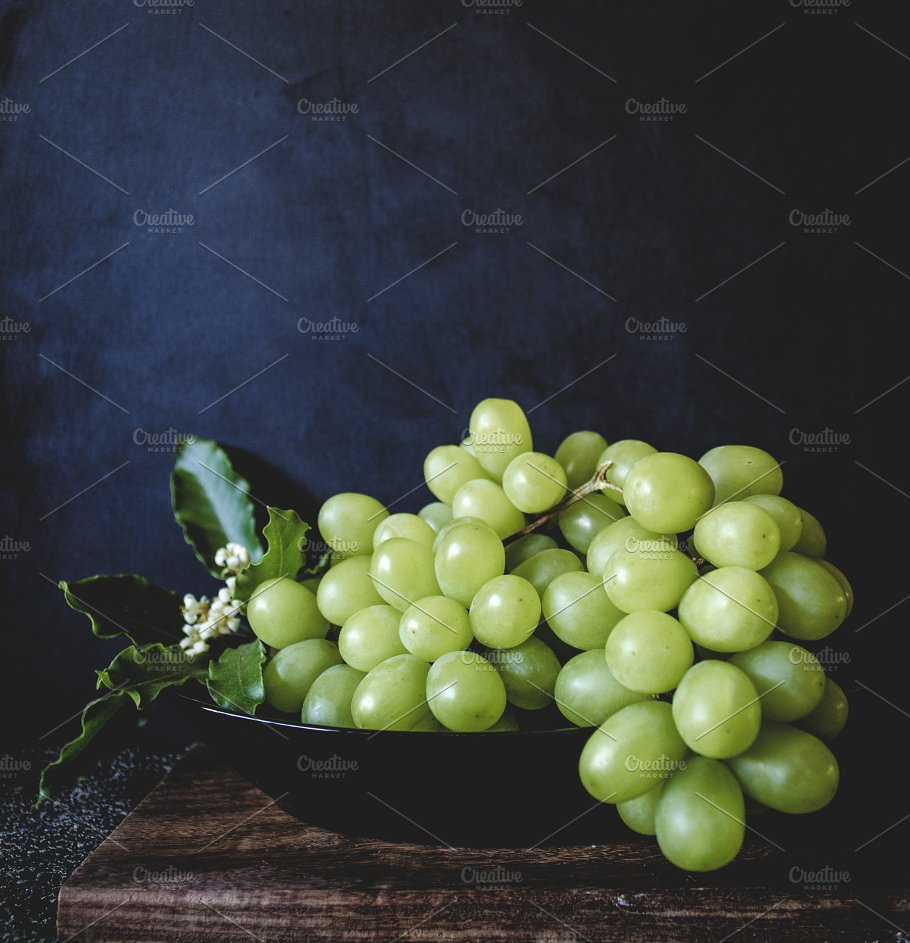 still life with green grapes food images creative market