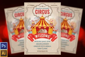 Circus Event Flyer / Poster Template