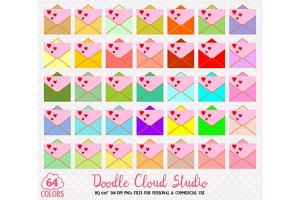 64 Colorful, Mail Clipart