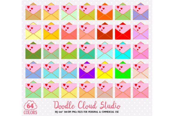 64 Colorful Mail Clipart
