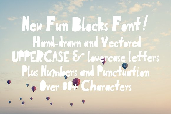 New Fun Blocks Hand-drawn Typeface