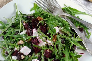 Salad from roasted beets