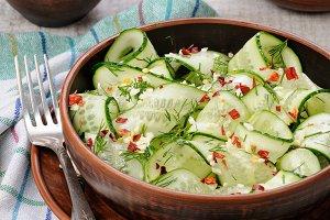 Cucumber spicy salad