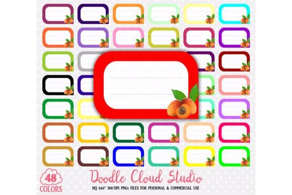 48 Colorful Apricot Labels Clipart