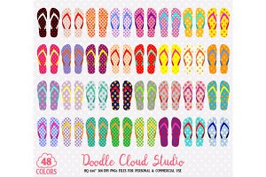 48 Colorful Patterned Flip Flop .