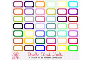 48 Colorful Labels Clipart Label