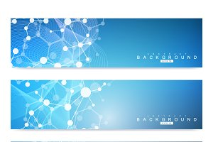 Set of modern vector banners