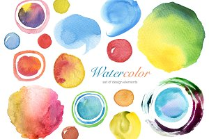 Collection of watercolor hand paint