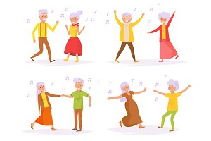 Old people dancing.