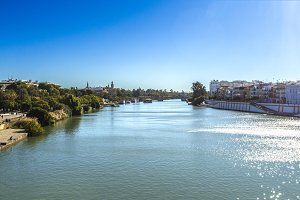 Town of Seville and its river.