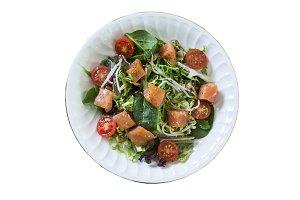 Fresh smoken salmon salad