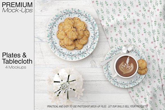 Free Plates & Tablecloth Set