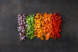 Chopped fresh vegetables
