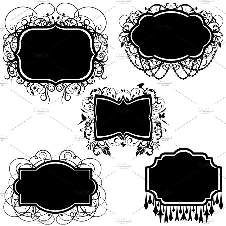 elegant frames vectors and clipart illustrations creative market - Elegant Frames