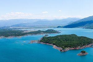 Beautiful summer views of the Bay of Karuk in the National Park of Lake Skadar, Montenegro