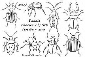 Doodle Beetles clipart