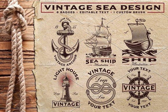 Vintage Sea Design