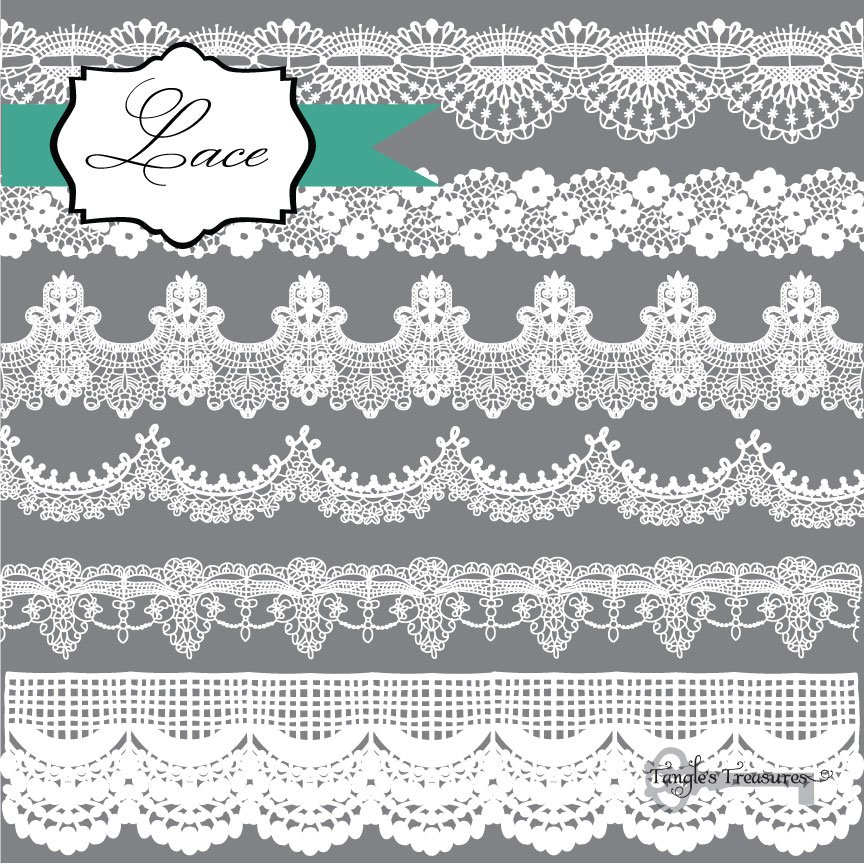 Lace Borders Clipart ~ Graphics ~ Creative Market