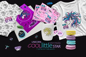 Unicorn. Cool. Little Star.
