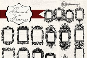 Vintage French Frames Brushes
