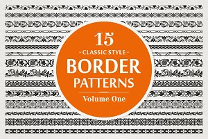 15 Vector Border Patterns Vol.1
