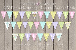 Happy Easter-Spring-Blessing Banners