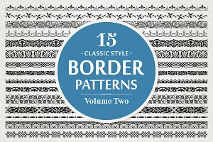 15 Vector Border Patterns Vol.2
