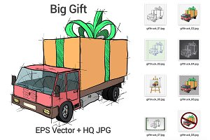 Truck with Gift Box
