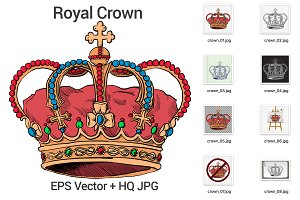 Hand Drawn royal crown