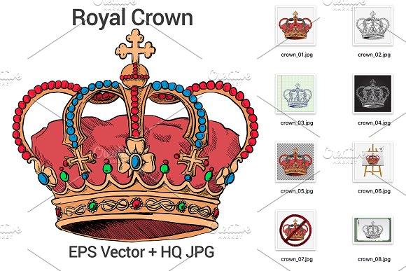 Hand Drawn Royal Crown