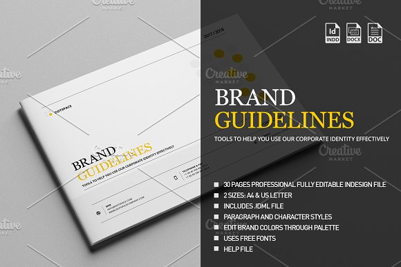 Brand Manual 30 Pages A4 US Letter