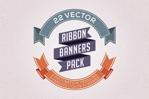 Vector Ribbon Banners Pack