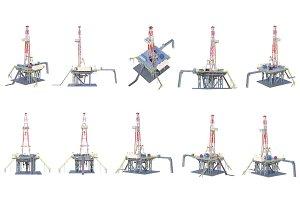 Land rig platform set