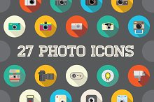 Awesome 27 Flat Vector Camera Icons