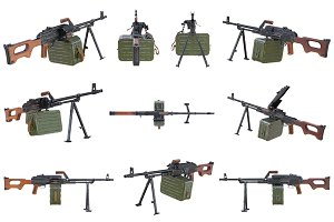 Gun machine military set