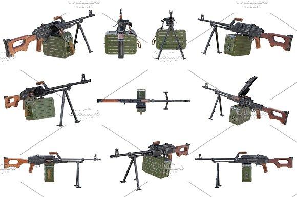 Gun Machine Military Set