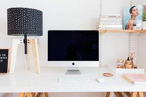 Imac desktop Styled Stock Photo