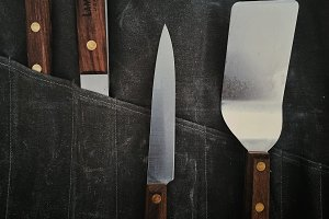 Grilling Tools in Canvas Wrap