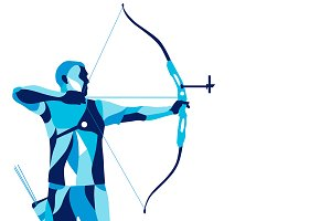Stylized archer, sports archery