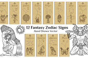 Zodiac signs banners