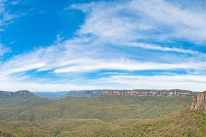Spectacular panorama of Three sisters natural landmark