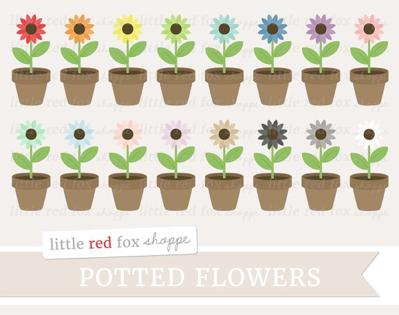 Potted Flower Clipart